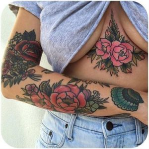 dark red rose tattoo
