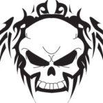 skull ankle tattoo