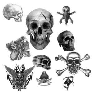 skull hat tattoo, skull jester tattoos
