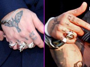 johnny depp finger tattoo meaning, johnny depp finger tattoos