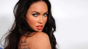 Megan Fox, megan fox back tattoo, megan fox butterfly tattoo, megan fox tattoo back, megan fox tattoo butterflies