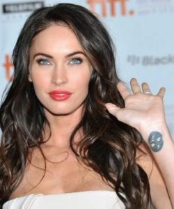 Megan Fox Tattoo, megan fox piercing, megan fox wrist tattoo, megan foxs hand