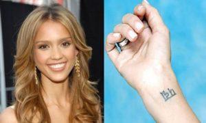 jessica alba tattoo meaning, jessica alba wrist tattoo