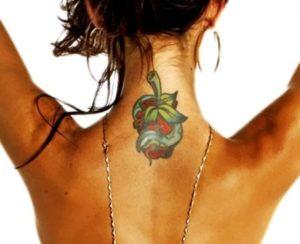 Audrina Patridge bad apple tattoo