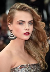 Cara Delevingne blue diamond tattoo designs, cara delevingne ear tattoo