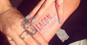 cara delevingne bacon tattoo, cara delevingne bacon