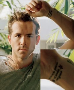Ryan Reynolds tattoos, ryan reynolds wrist tattoo, ryan roberts mlb,