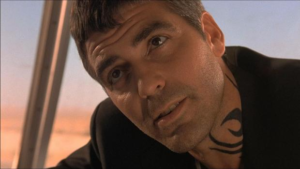 george clooney dusk till dawn tattoo design, george clooney neck tattoo