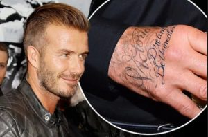 david beckham forearm tattoo