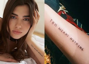 Dua Lipa Tattoos