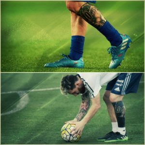 messi leg tattoo