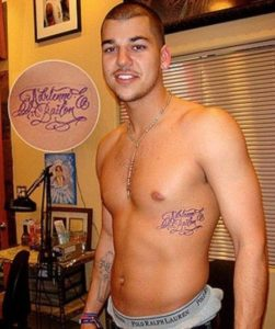 Robert Kardashian Tattoos