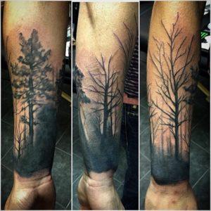 Tree cover up tattoo, natural tattoo
