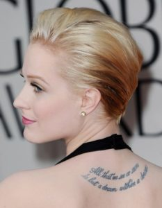 Evan Rachel Wood's Tattoos