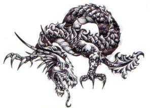 black dragon tattoo designs, chinese dragon tattoo, dragon claws tattoo, dragon smoke tattoo