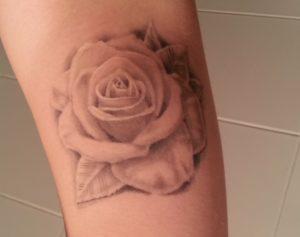faded rose tattoos
