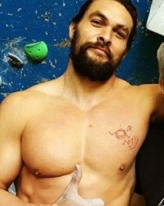 Jason Mamoa Lola and Wolf Tattoo