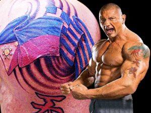 Dave Bautista Tattoos