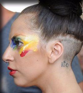lady gaga neck tattoo