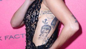 gaga bowie tattoo, lady gaga bowie tattoo