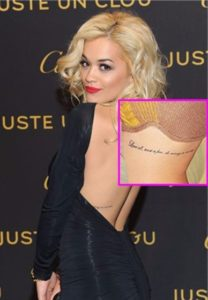 Rita Ora Tattoos