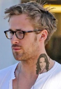 ryan gosling face tattoo