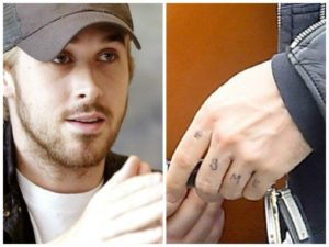 ryan gosling daughter tattoo
