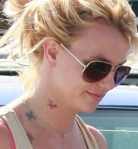britney spears neck, britney spears new tattoo