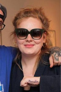 adele hand tattoo
